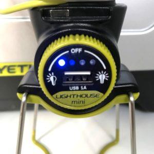 Lighthouse Mini Battery indicator